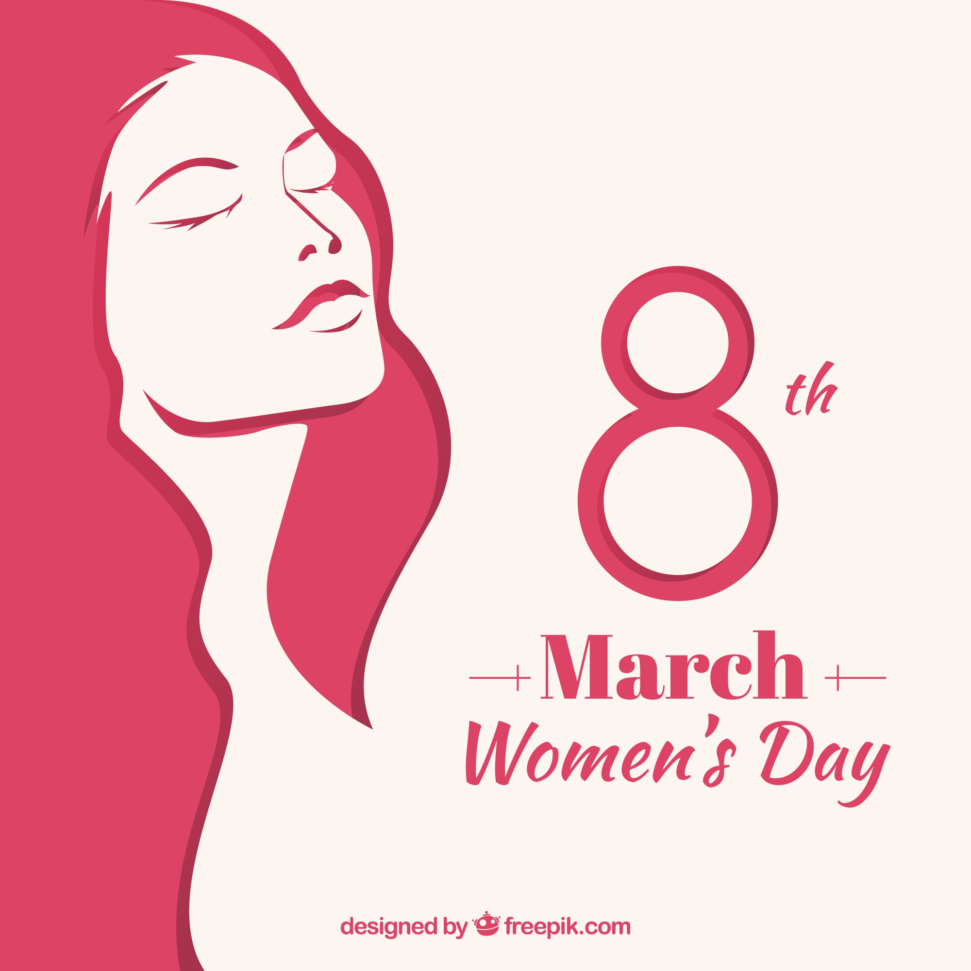 Women's day background in flat design
