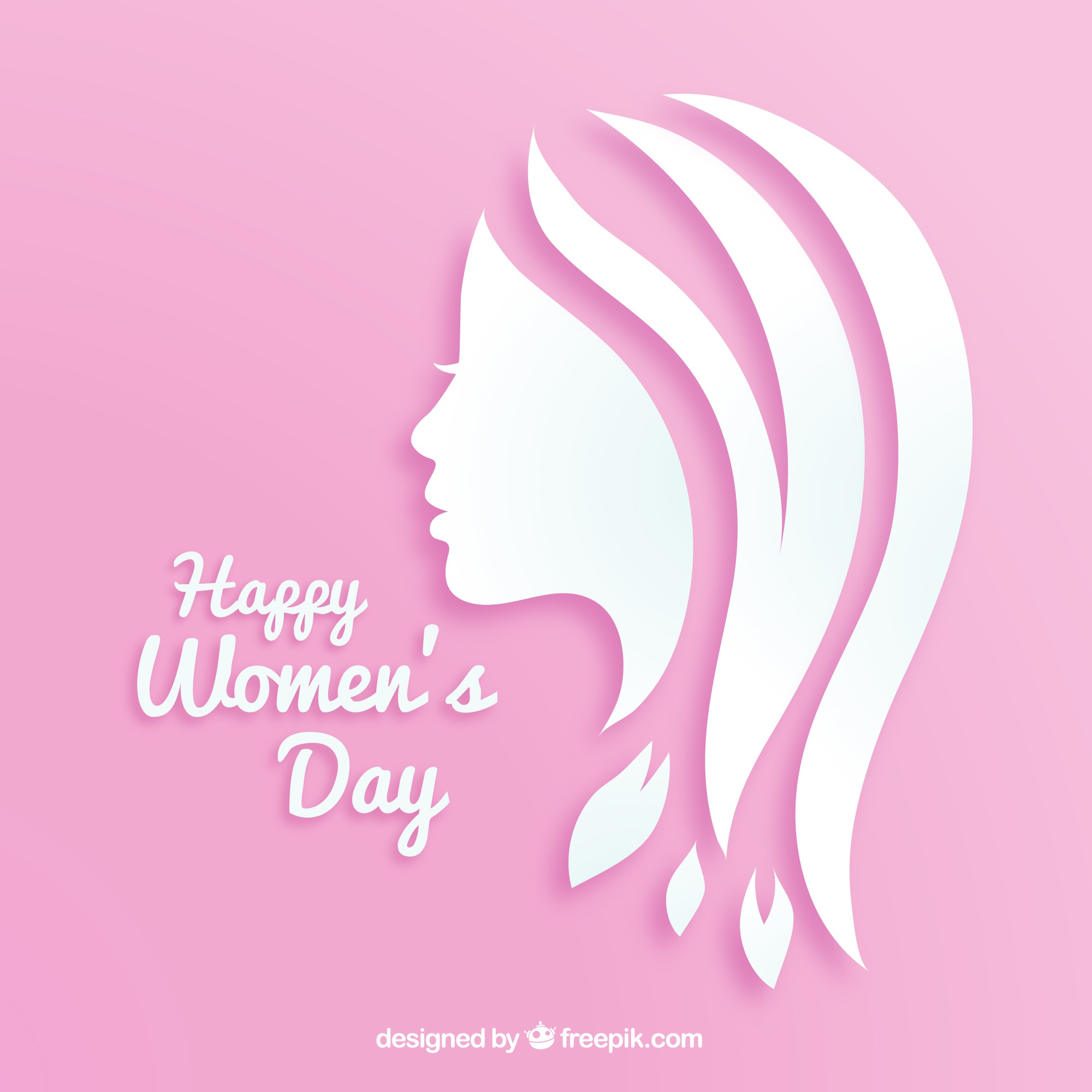 Women's day background in paper