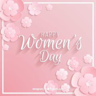 Women's day background in pastel pink