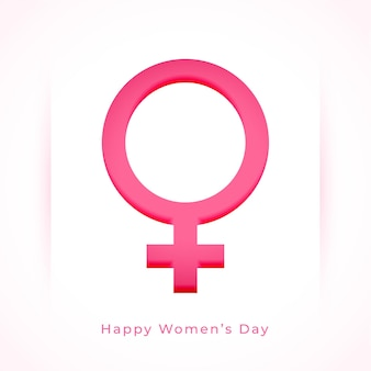 Women's day background with female symbol in paper style