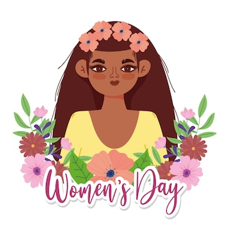 Women's day background with flowers