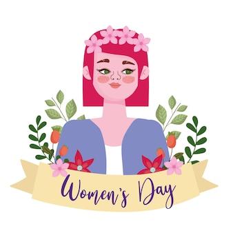 꽃과 여성의 날 배경