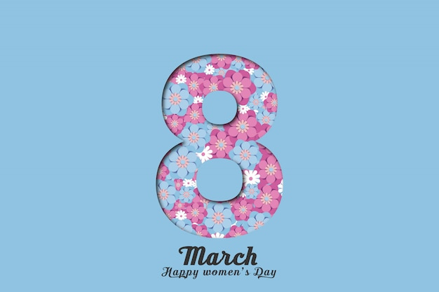 Women's day background with illustration number