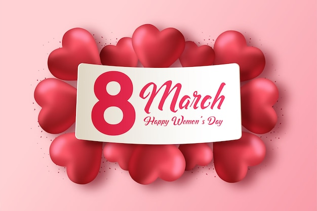 Women's day background with numbers