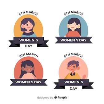 Collezione di badge per la festa della donna