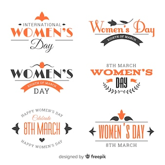 Women's day badge collection