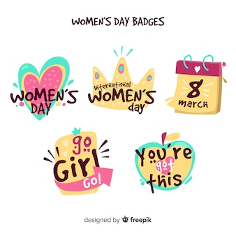 Women's day badges collection