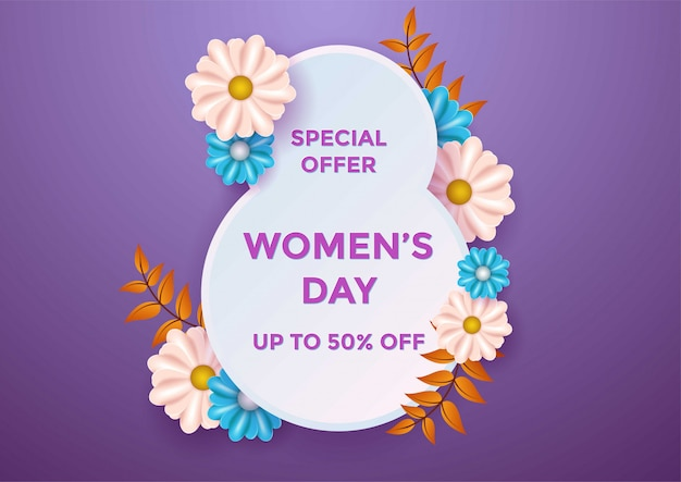 Women's day banner  vector illustration