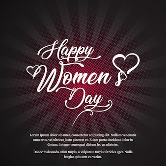 Women's day card with elegent vintage disign vector