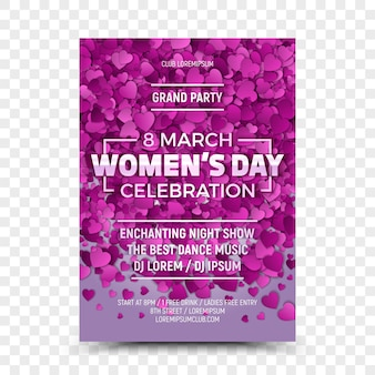 Women's day celebration eighth march flyer template