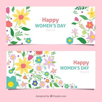 Striscioni fiore giorno celebrazione delle donne