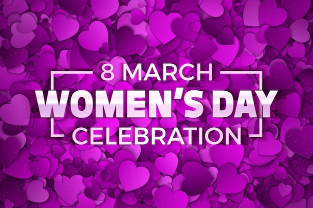 Women's day celebration invitation abstract background