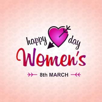 Design della giornata delle donne con sfondo rosa