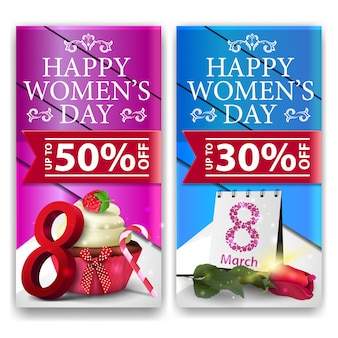 Women's day discount vertical banners