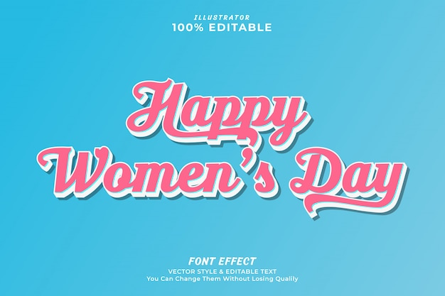 Women's day editable text effect