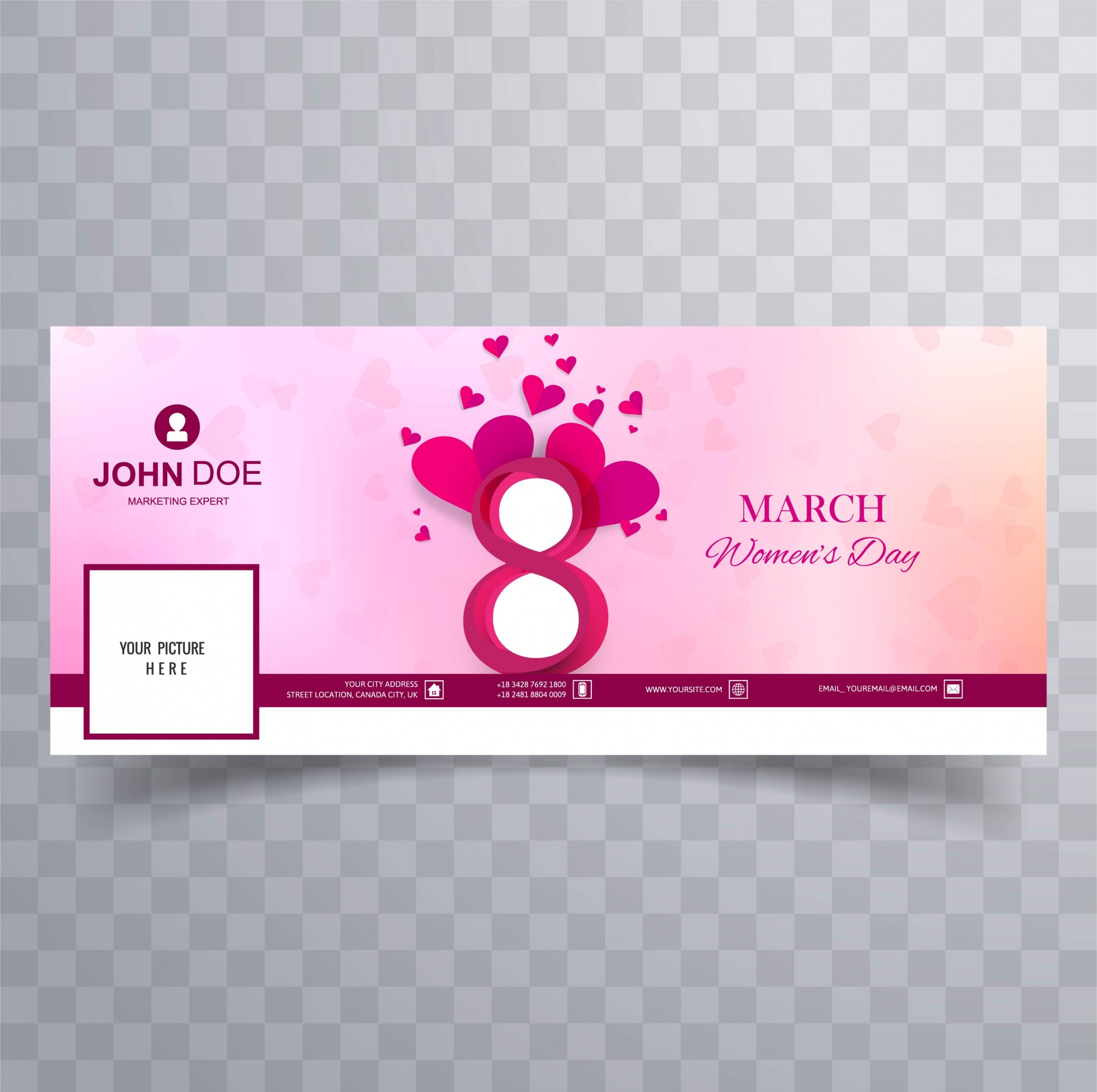 Women's day facebook cover design