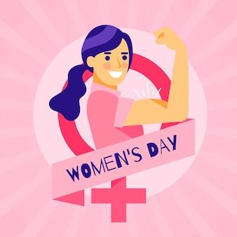 Women's day in flat design