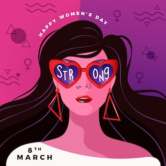 Women's day in flat design