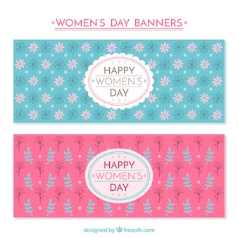 Banner floreali festa della donna