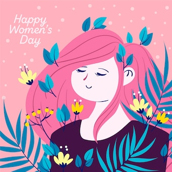 Women's day in floral style