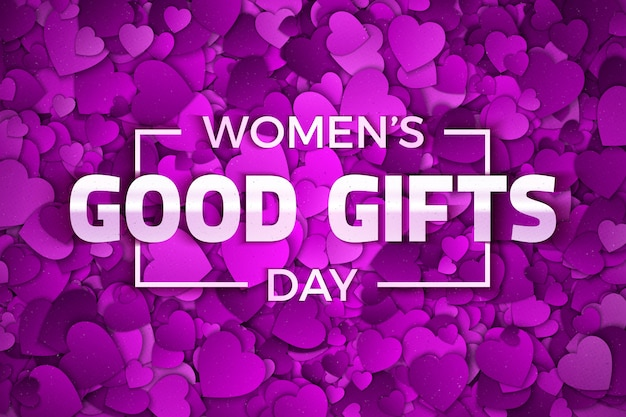 Women's day good gifts abstract background