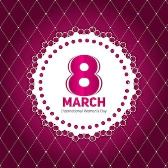 레트로 빈티지 스타일의 여성의 날 인사말 카드 3 월 8 일