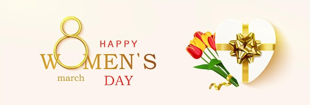 여성의 날 인사말 카드, 가로.