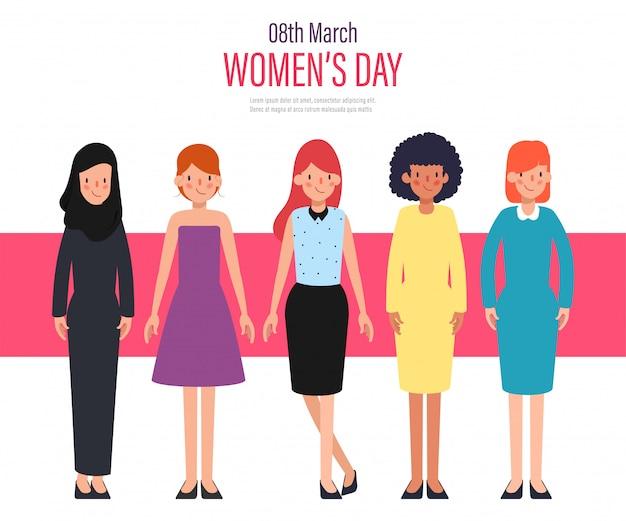 Women's day international character.