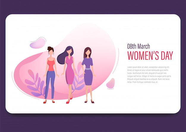 Women's day international landing page