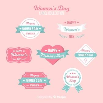 女性の日ラベルコレクション