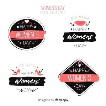 Коллекция женского дня этикетки