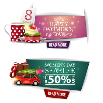 Women's day modern discount banners