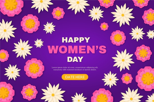 Women's day in paper style