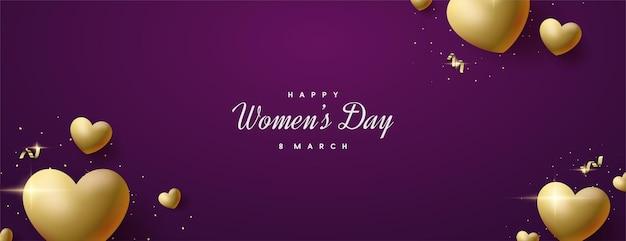 럭셔리 골드 러브 풍선과 함께 여성의 날 세일.