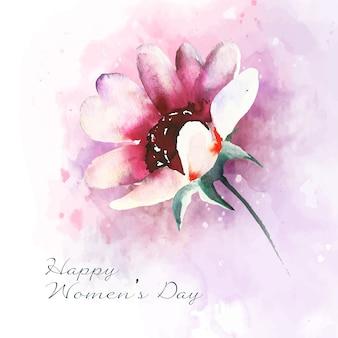 Women's day watercolor flower