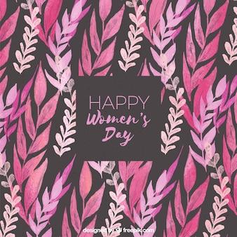 Women's day watercolour background