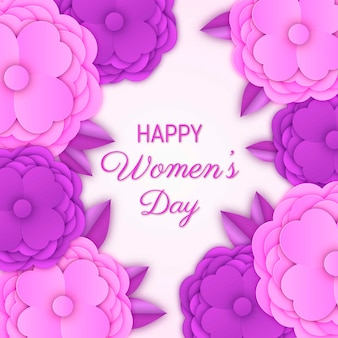 Women's day with colorful flowers