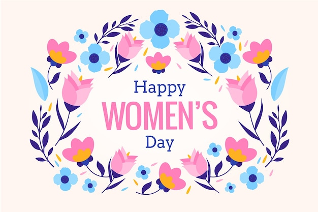 Women's day with flowers background