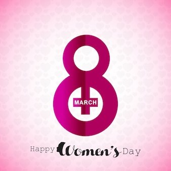 Women's day with pattern pink background