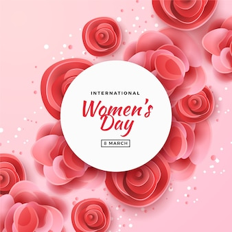 Women's day with roses background