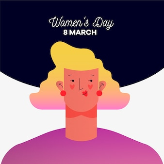 Women's day with woman and date