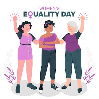 Illustrazione del concetto di giorno dell'uguaglianza delle donne