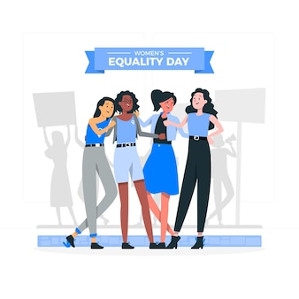 Women's equality day concept illustration