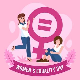 Illustrazione del giorno dell'uguaglianza delle donne