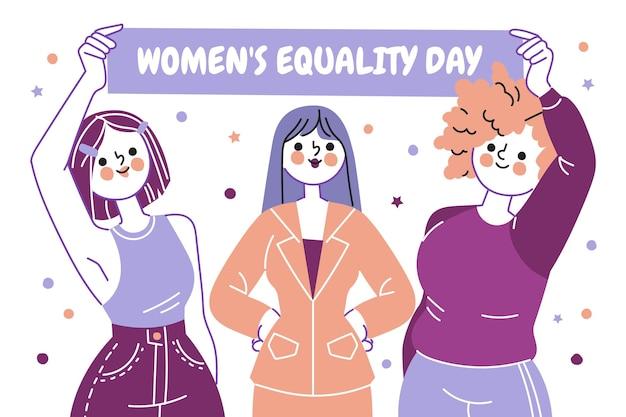 女性の平等の日のイラスト 無料ベクター