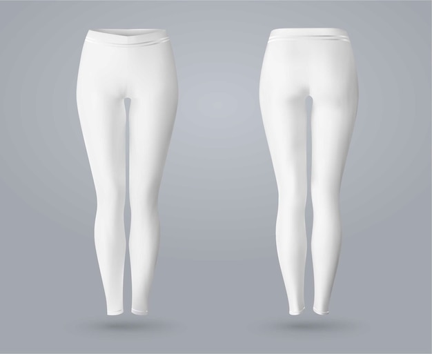 Women's leggings in front and back view.