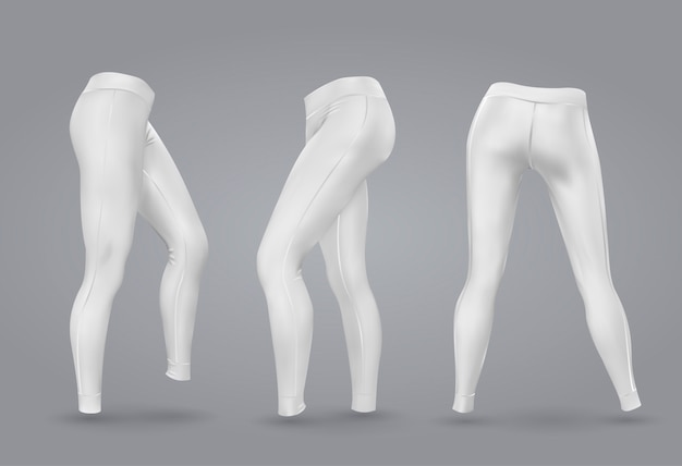Women's leggings mockup.