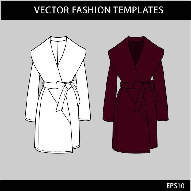 Женское длинное пальто модные технические рисунки без каблука