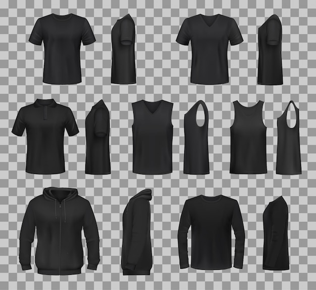 Women shirts clothes black template models