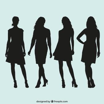 女性のシルエットコレクション